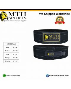 Weight Lifting Leather Belt Liver Buckle
